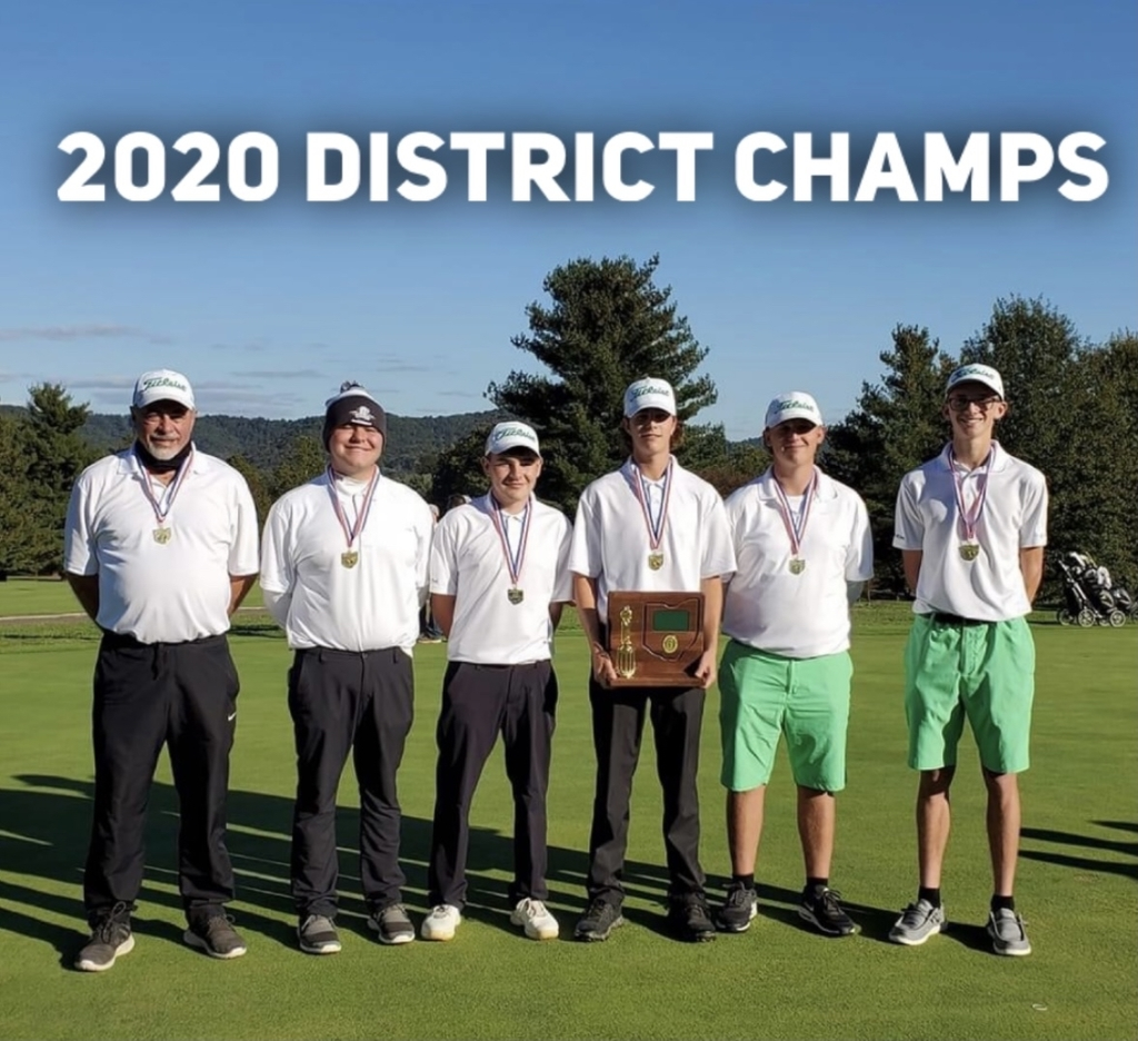 Varsity Golf District Champs