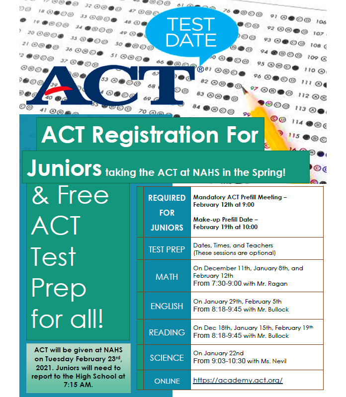 ACT Administration and Test Prep at NAHS