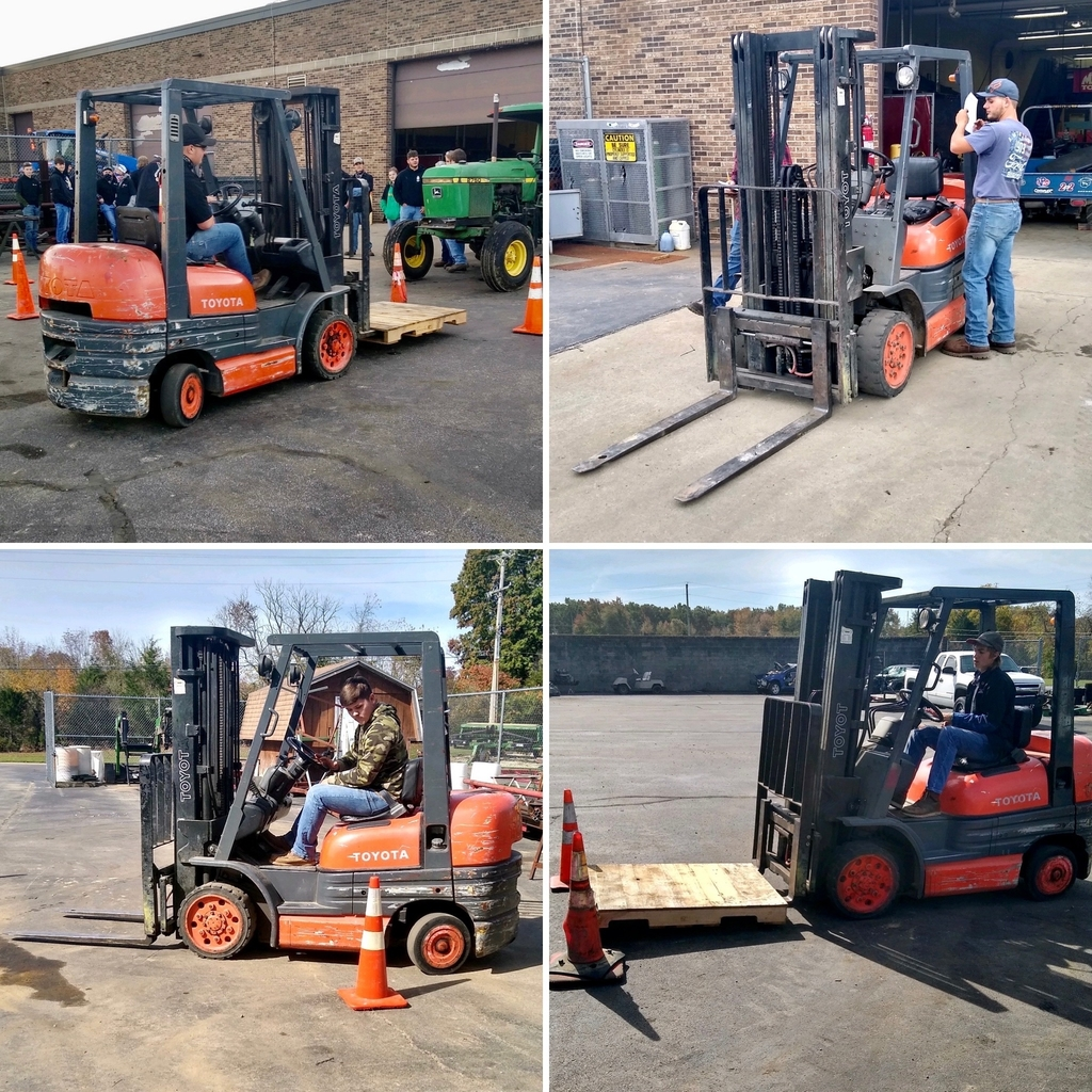 Forklift training for OVCTC Ag Mechanics students