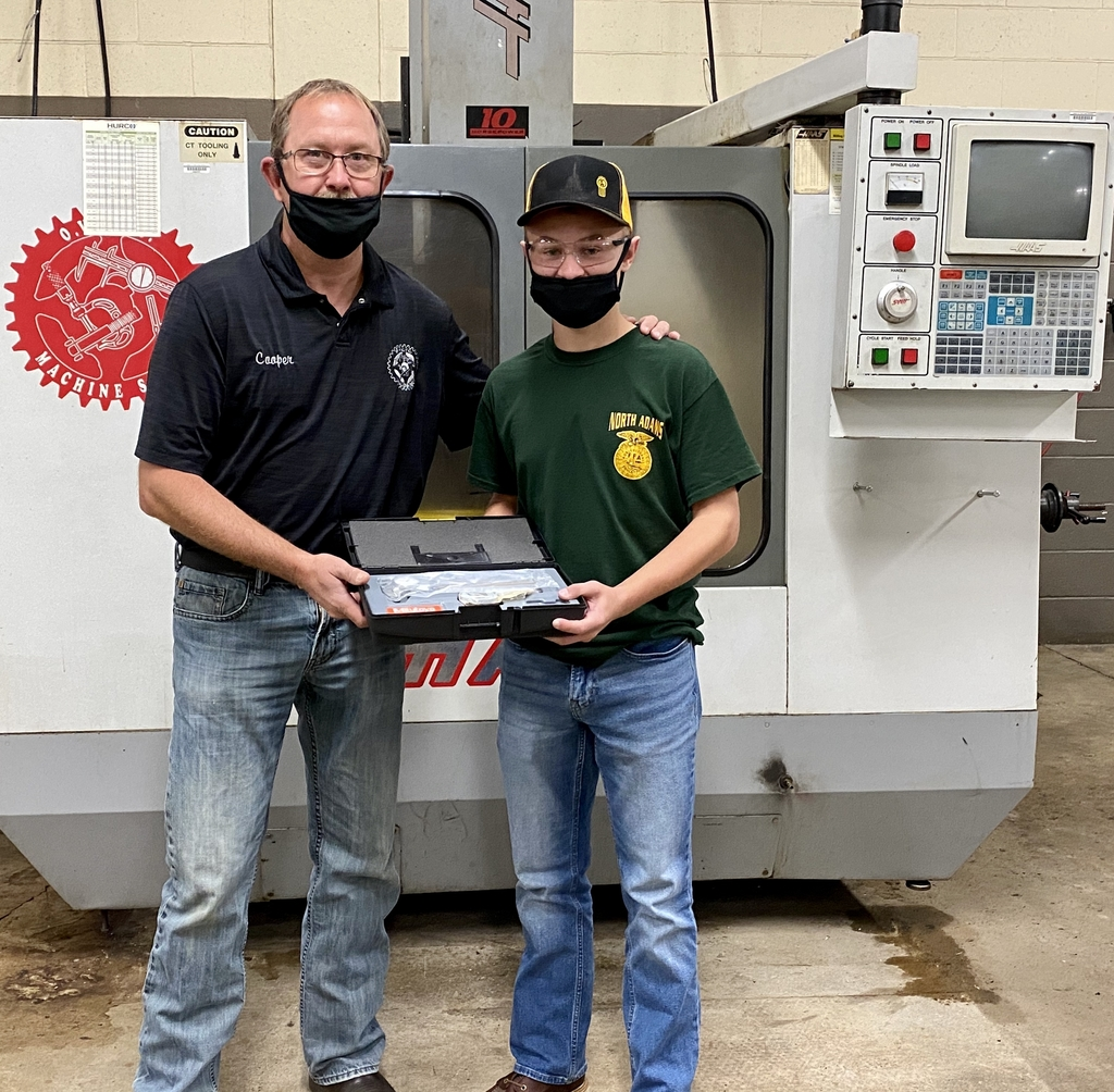Junior Lucas Roush, CNC Machining Program