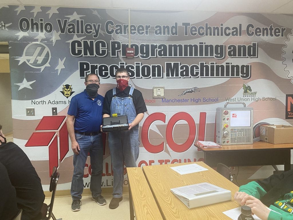 CNC MACHINING - 2nd Nine Weeks Attendance Award