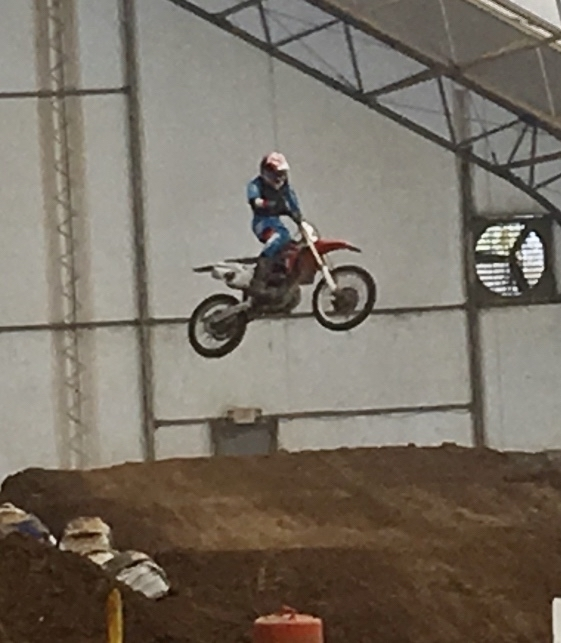 Brennan Barr competing in a motorcross event in Maysville, KY.