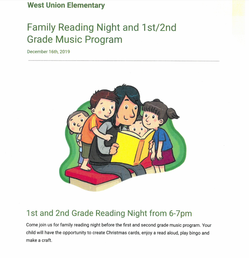 2019 Family Reading Night