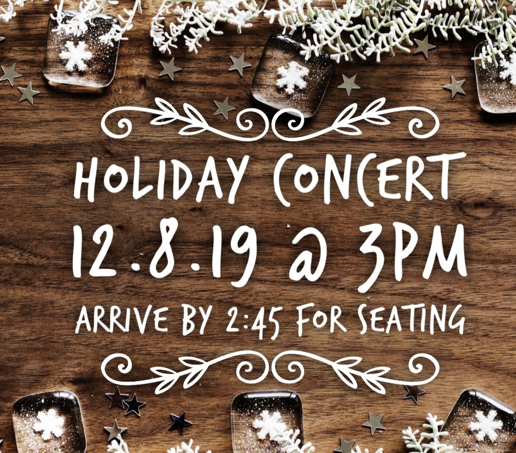 Holiday Concert 12.8.19 @3pm