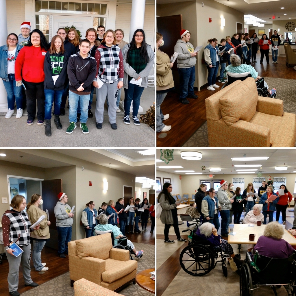 Ohio Valley CTC Culinary Arts students singing Christmas carols at the Ohio Valley Manor.