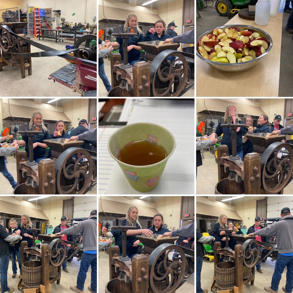 OVCTC Ag Business students produce apple cider with a vintage apple press.