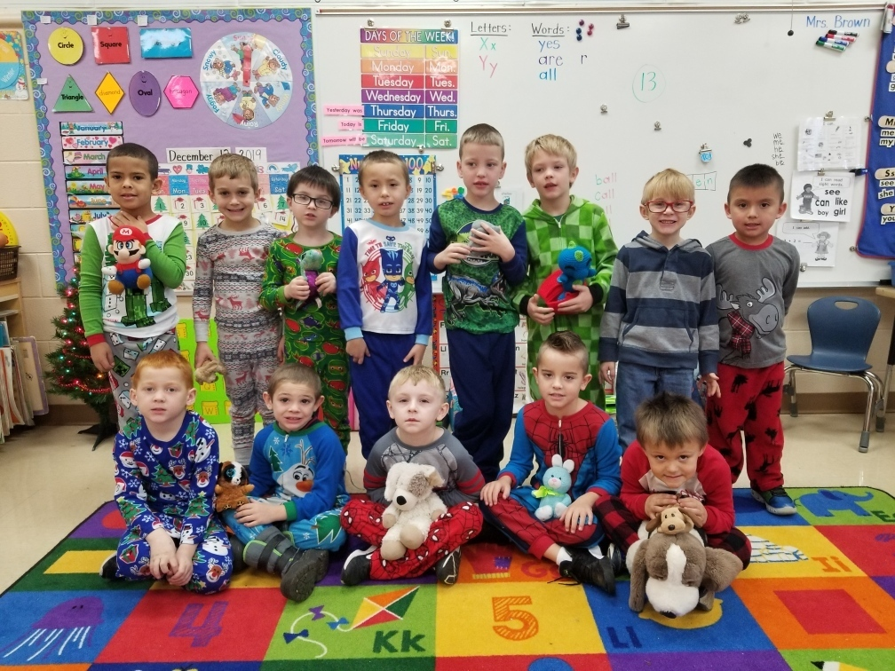 Mrs. Brown's Kindergarten class