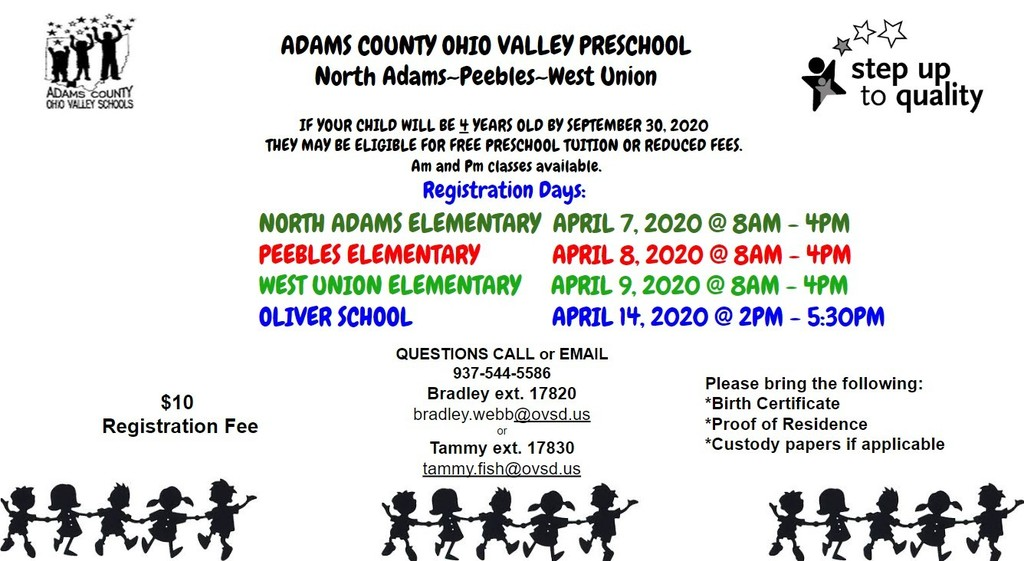 Preschool Registration 2020