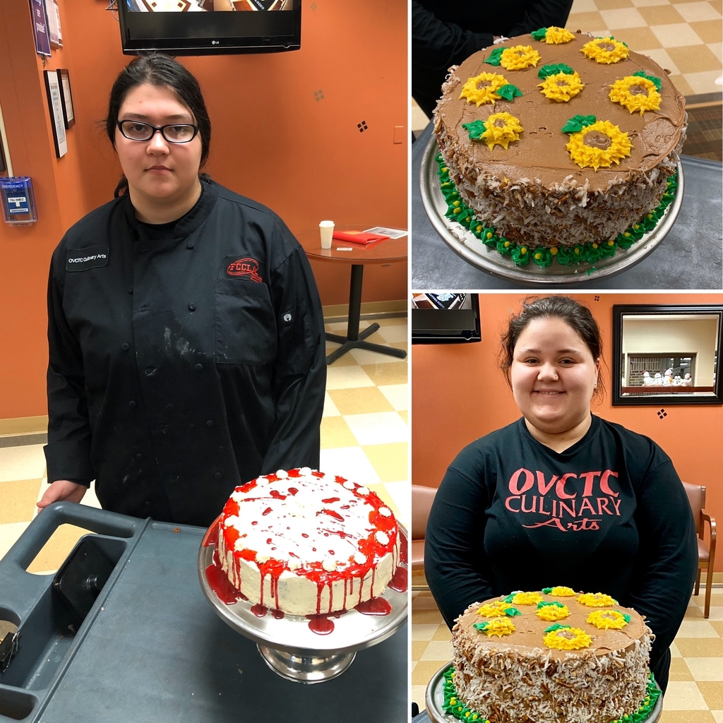 OVCTC Culinary Arts Program preparations for the upcoming FCCLA competition.