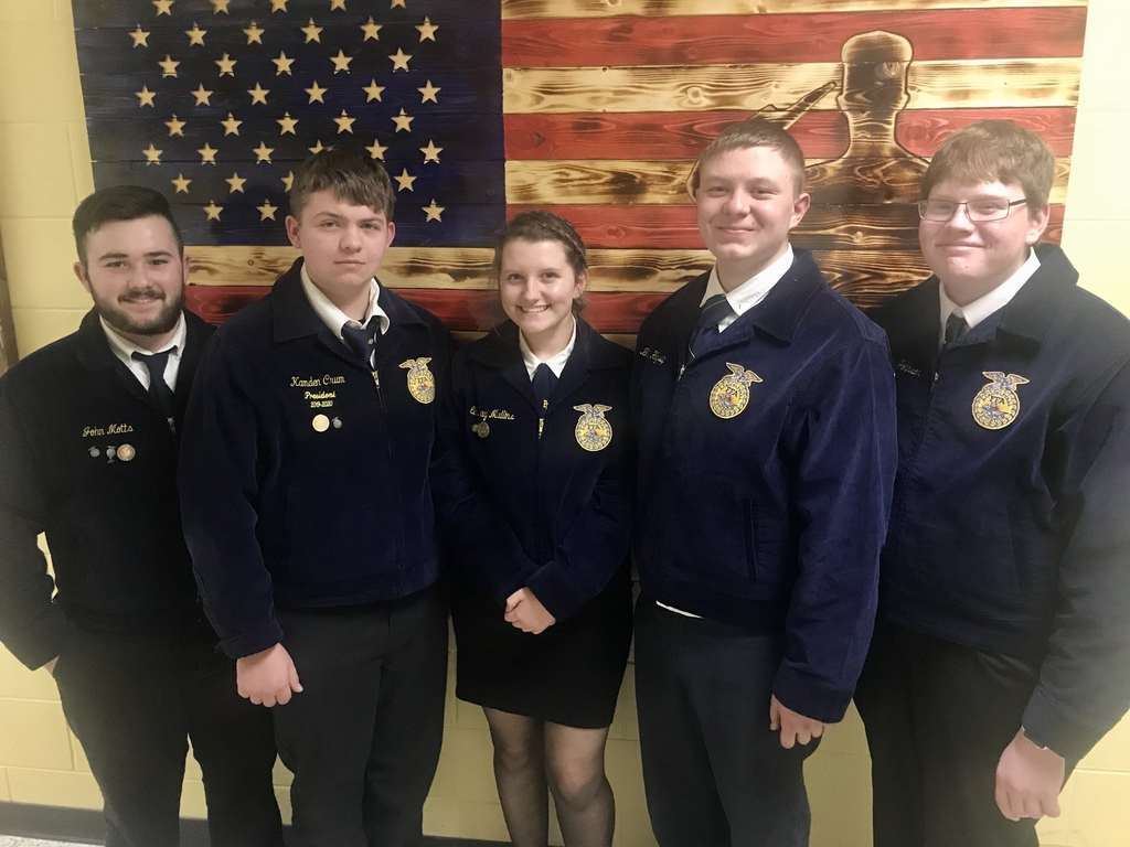 OVCTC FFA competitors at the sub-district public speaking contest.