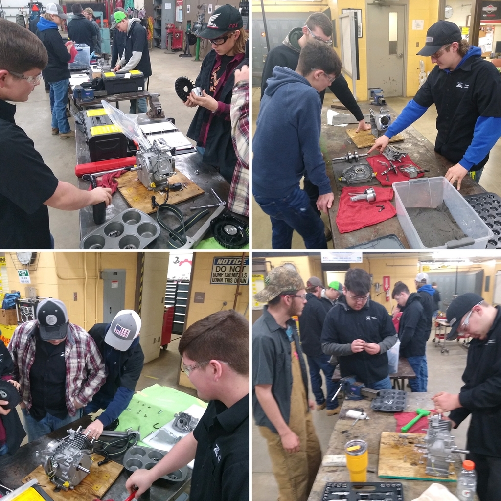 Ag Mechanics works on tearing down & rebuilding their Briggs & Stratton engines!