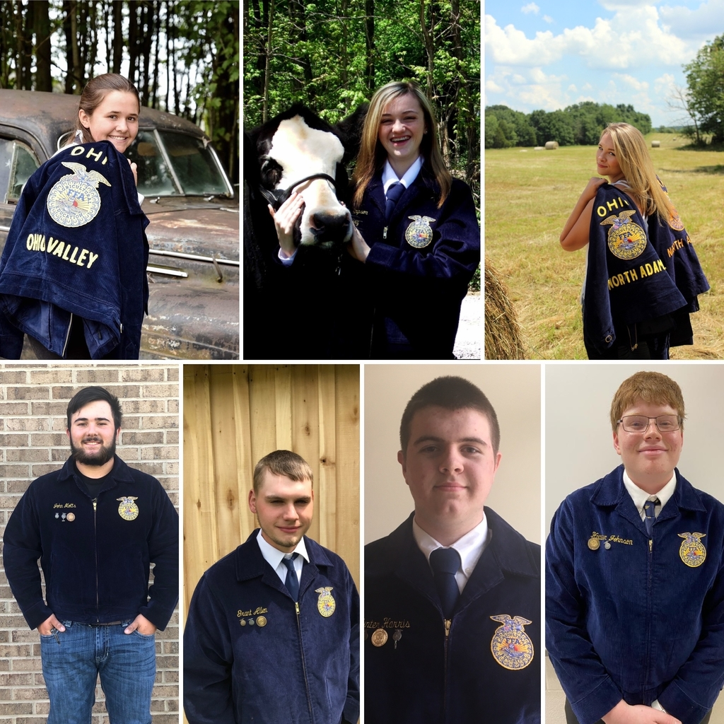 2020 OVCTC FFA STATE DEGREE RECIPIENTS